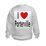 I Love Porterville (Front) Kids Sweatshirt