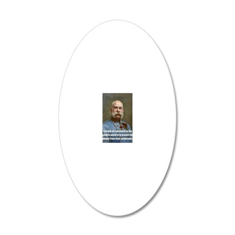 Franz Josef I 20x12 Oval Wall Decal
