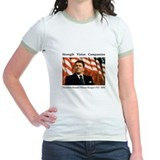 Ronald Reagan Memorial Ringer T-shirt