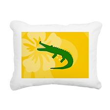 Alligator Messenger Bag Rectangular Canvas Pillow
