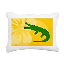 Alligator Bucket Bag Rectangular Canvas Pillow
