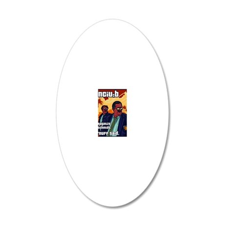 DB cops 20x12 Oval Wall Decal