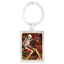 Day Of The Dead Loteria Portrait Keychain