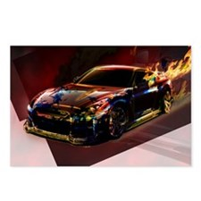 Abstract GTR Postcards (Package of 8)