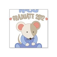 "NICU Grad Mouse 2012 Square Sticker 3"" x 3"""