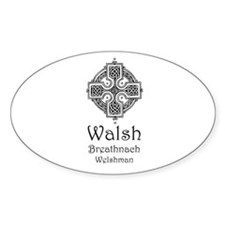 Walsh Oval Decal