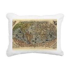 16th century world map Rectangular Canvas Pillow
