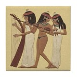 Egyptian Musicians_Tile Coaster