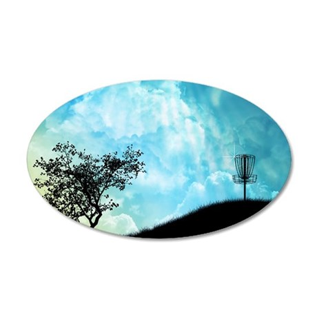 Basket On A Hill #2 35x21 Oval Wall Decal
