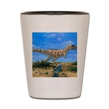 Artwork of a Tyrannosaurus rex dinosaur Shot Glass