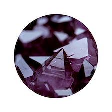 "Amethyst crystals 3.5"" Button"