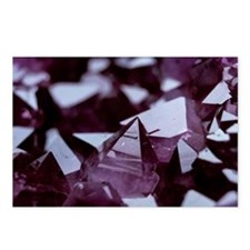 Amethyst crystals Postcards (Package of 8)
