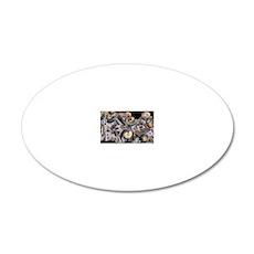 Ammonites 20x12 Oval Wall Decal