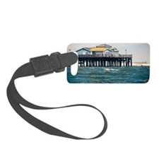 HDR Seal Beach Pier Luggage Tag