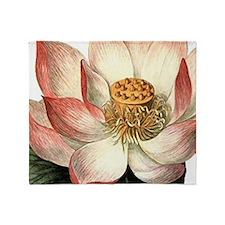 Botanical Lotus Throw Blanket