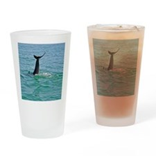 Bottlenose Dolphin Diving - 2 Drinking Glass