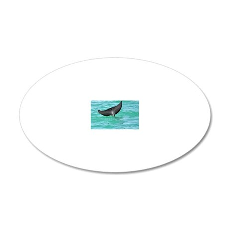 Bottlenose Dolphin Fluke 20x12 Oval Wall Decal