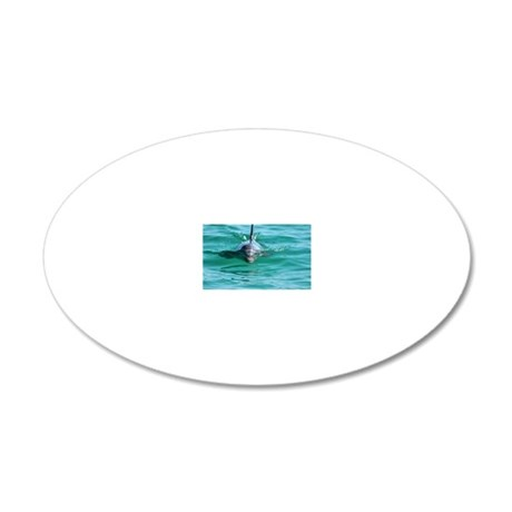 Bottlenose Dolphin 20x12 Oval Wall Decal