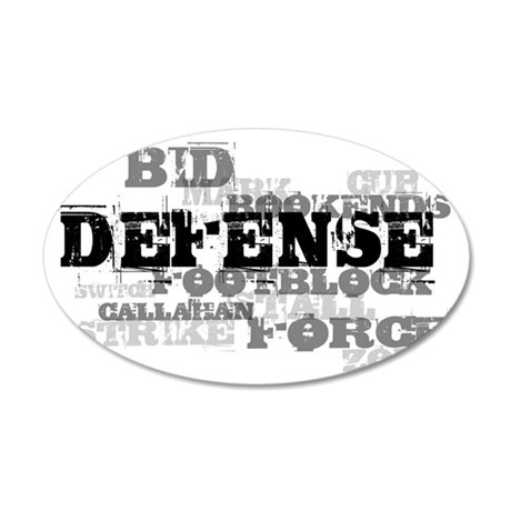 Defense (lettering) 35x21 Oval Wall Decal