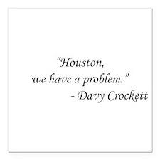 "Apollo 13 - Davy Crocket Square Car Magnet 3"" x 3"""