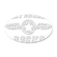 FORT BRADEN ROCKS Oval Car Magnet