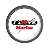 I Love Marisa Wall Clock