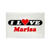 I Love Marisa Rectangle Magnet (100 pack)