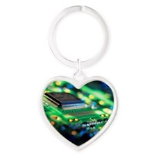 Circuit board Heart Keychain