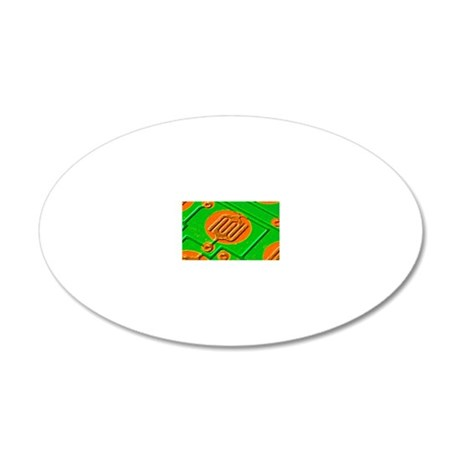 Circuit board, SEM 20x12 Oval Wall Decal