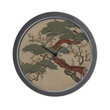 Japanese Bonsai Pine Wall Clock