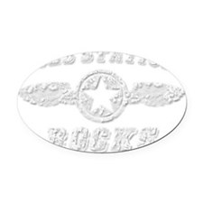 GOES STATION ROCKS Oval Car Magnet