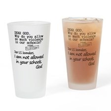 Dear God Drinking Glass