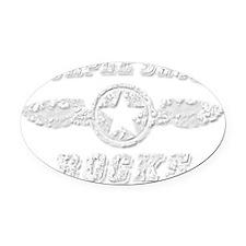 PURPLE SAGE ROCKS Oval Car Magnet