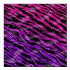 "Colorful pink  purple fu Square Car Magnet 3"" x 3"""