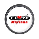 I Love Mariana Wall Clock