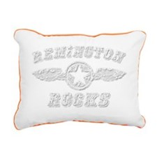 REMINGTON ROCKS Rectangular Canvas Pillow