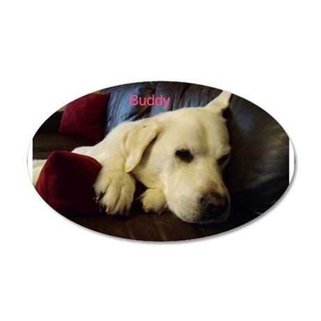 buddy 35x21 Oval Wall Decal