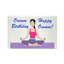 Yoga Birthday Card Rectangle Magnet