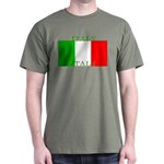 Italy Italian Flag Dark T-Shirt