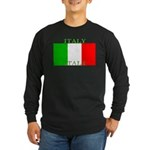 Italy Italian Flag Long Sleeve Dark T-Shirt