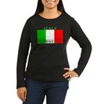 Italy Italian Flag Women's Long Sleeve Dark T-Shir