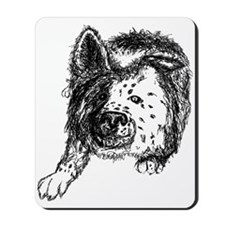 Border Collie Stare Mousepad
