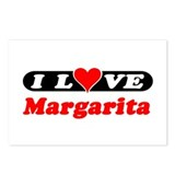 I Love Margarita Postcards (Package of 8)