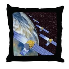 Communication satellites Throw Pillow