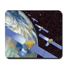 Communication satellites Mousepad