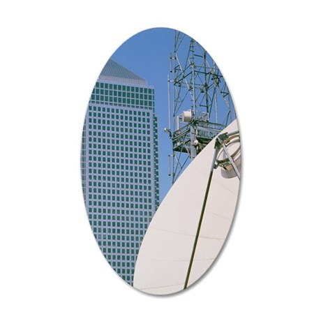 Communications dish, with Ca 35x21 Oval Wall Decal