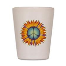 Peace Flower Shot Glass
