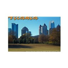 Atlanta Skyline Rectangle Magnet