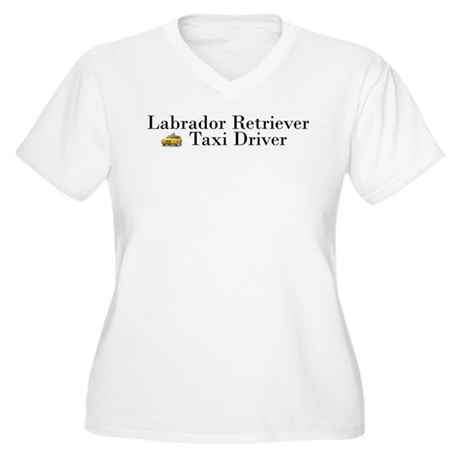 All Lab Taxi Women's Plus Size V-Neck T-Shirt