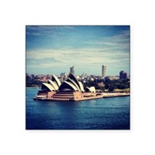 "Sydney Opera House Square Sticker 3"" x 3"""